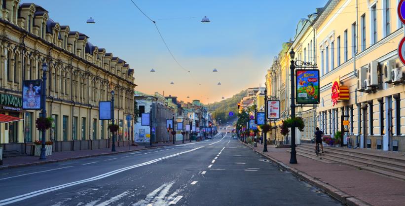 Центр Киева без рекламы