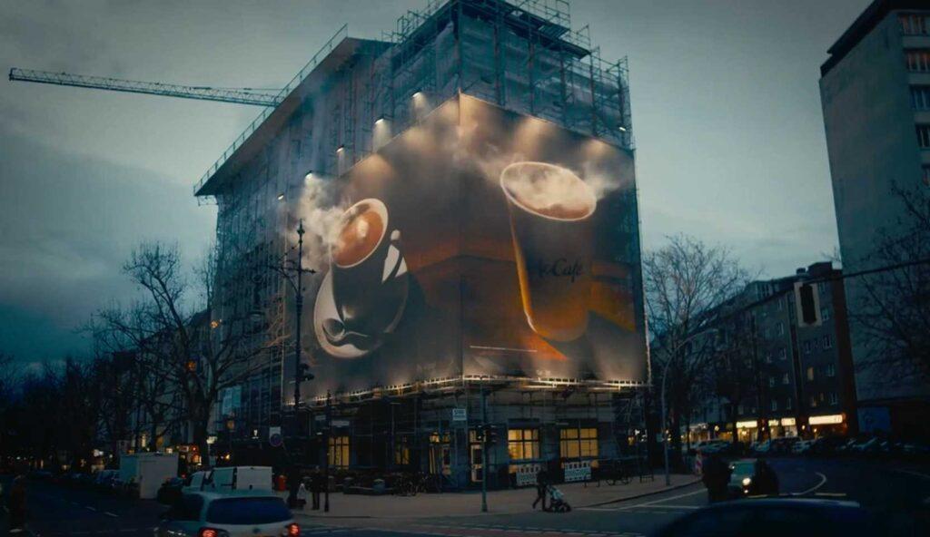 наружная реклама McCafe в Германии