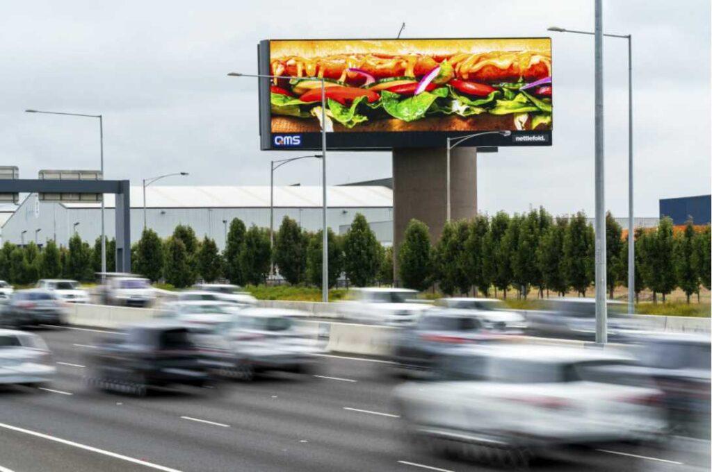 наружная реклама Subway в Австралии