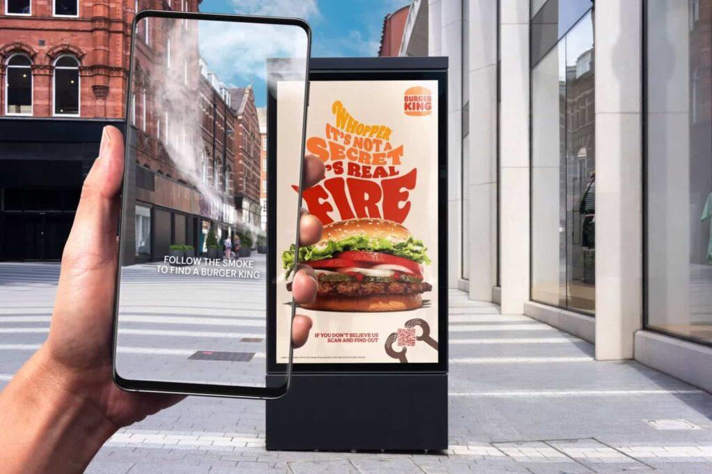 Наружная реклама от Burger King